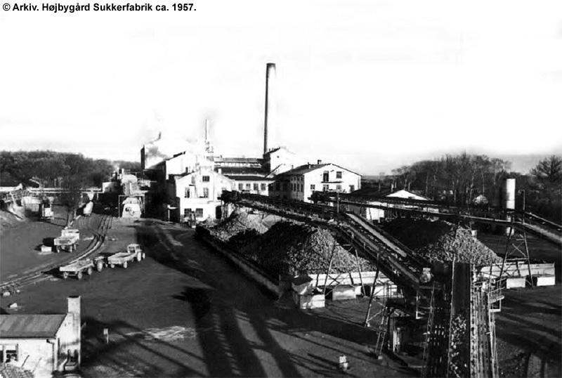 Højbygård Sukkerfabrik 1957