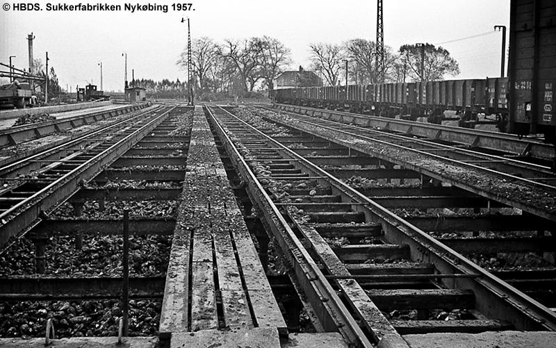 Sukkerfabrikken Nykøbing 1957
