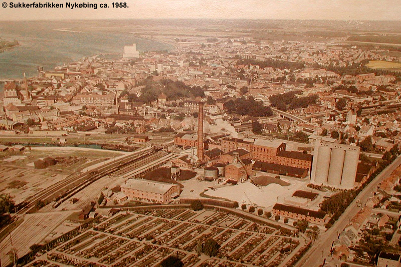 Sukkerfabrikken Nykøbing 1958