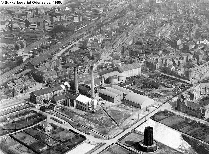 Sukkerkogeriet Odense 1950