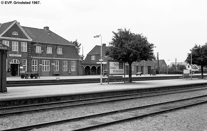DSB stationen i Grindsted anno 1967