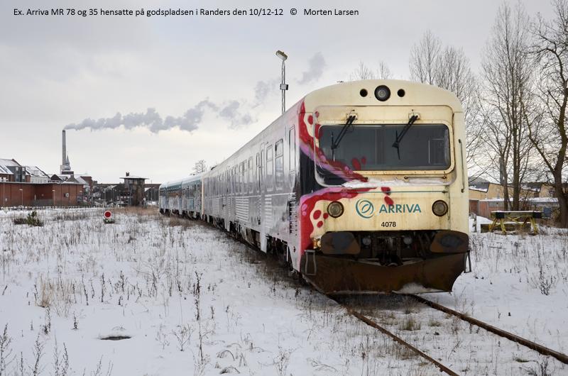 Tidligere Arriva Mr tog i Randers - Jernbanen.dk forum