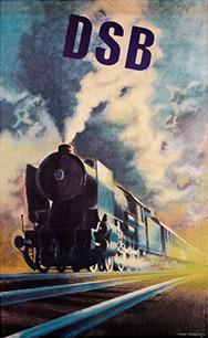 DSB plakat 1950