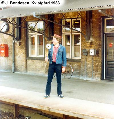 Stationsbestyrer i Kvistgård 1983